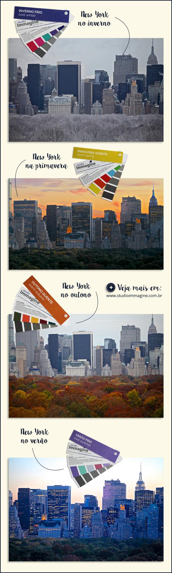 fotografias de nova york nas estações do ano - coloração pessoal e a natureza
