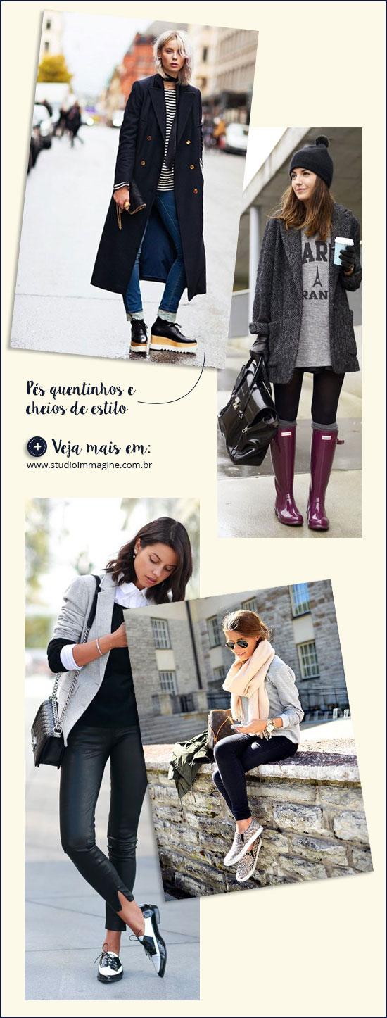 calçados para o inverno