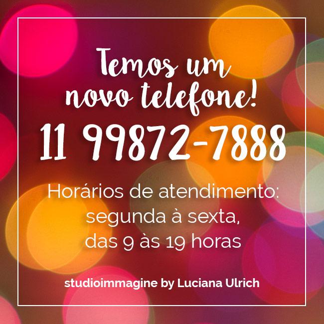 Novo telefone Studio Immagine: 11 99872-7888