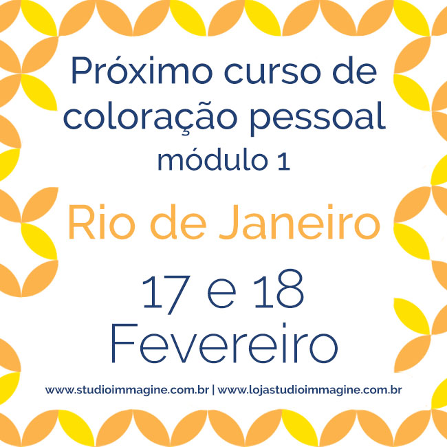 curso de coloração pessoal no Rio de Janeiro em 2018