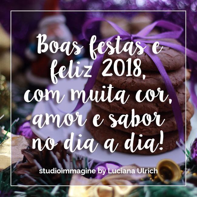 Boas festas e feliz 2018@