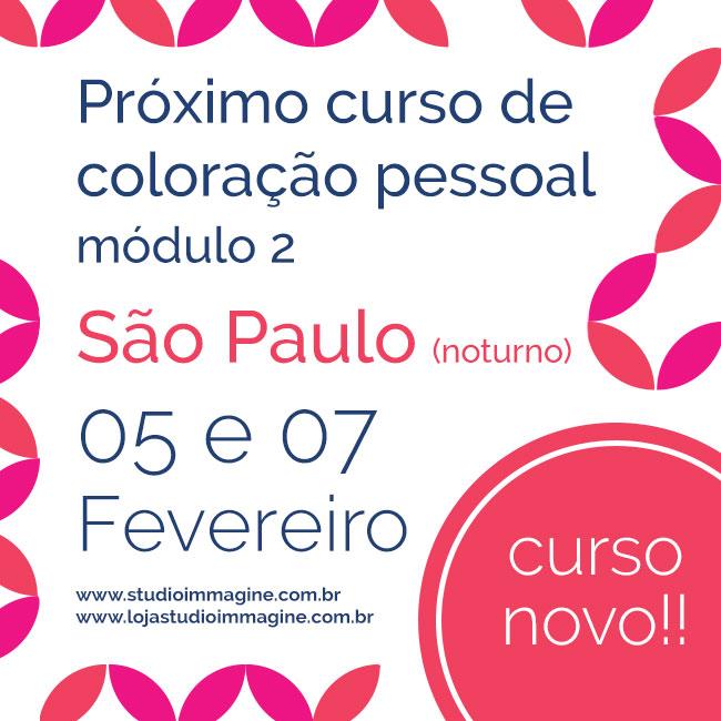 corso de coloração pessoal, módulo avançado em São Paulo