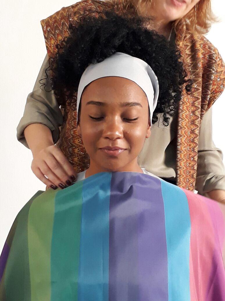 post 19 - tecido listrado- teste de coloração em pele negra