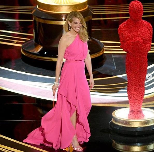 Rosa no Oscar - Julia Roberts de Elie Saab