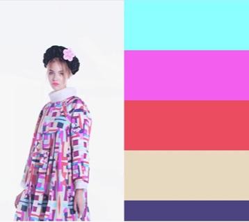 Look e cartela de cores da linha Cruise apresentada em Seul