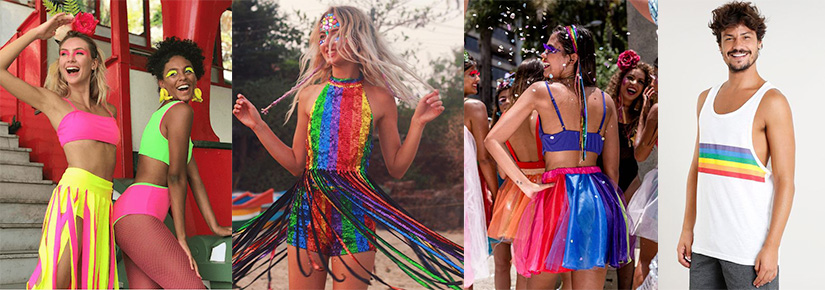 cores carnaval 2020 - roupas coloridas