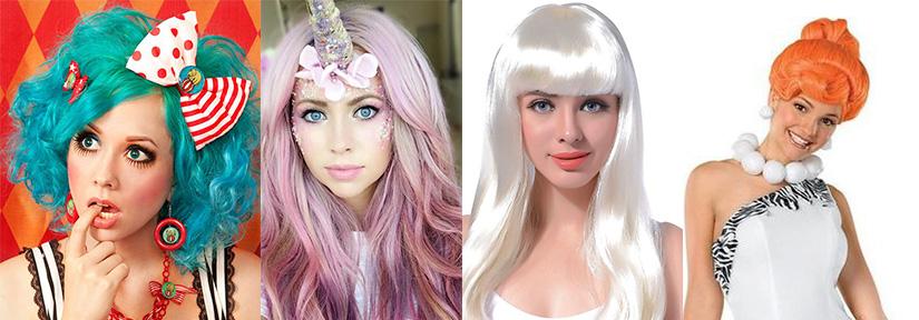 cores carnaval 2020 - perucas