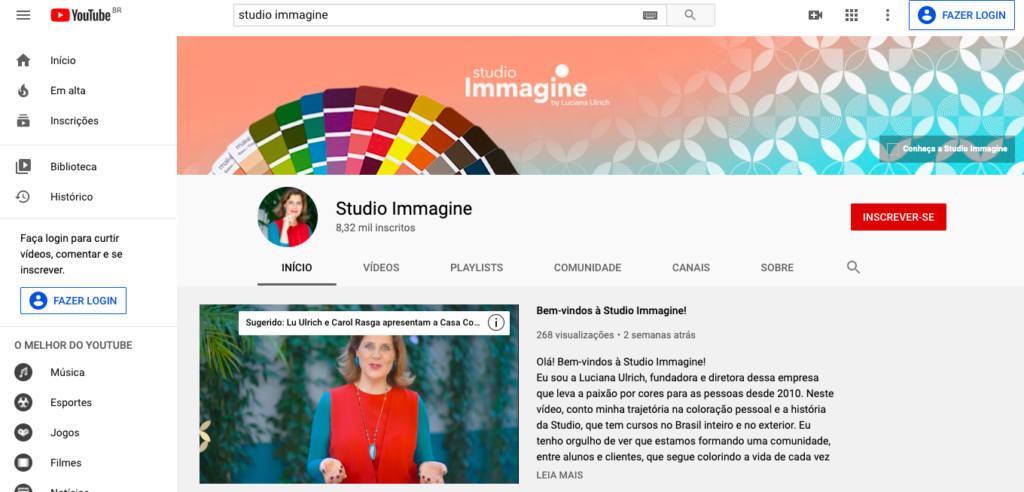 canal da Studio Immagine no YouTube