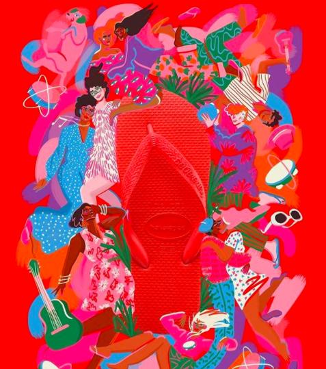 cores na moda pós-pandemia - havaianas