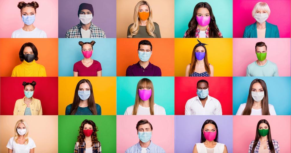 As cores mais usadas na pandemia