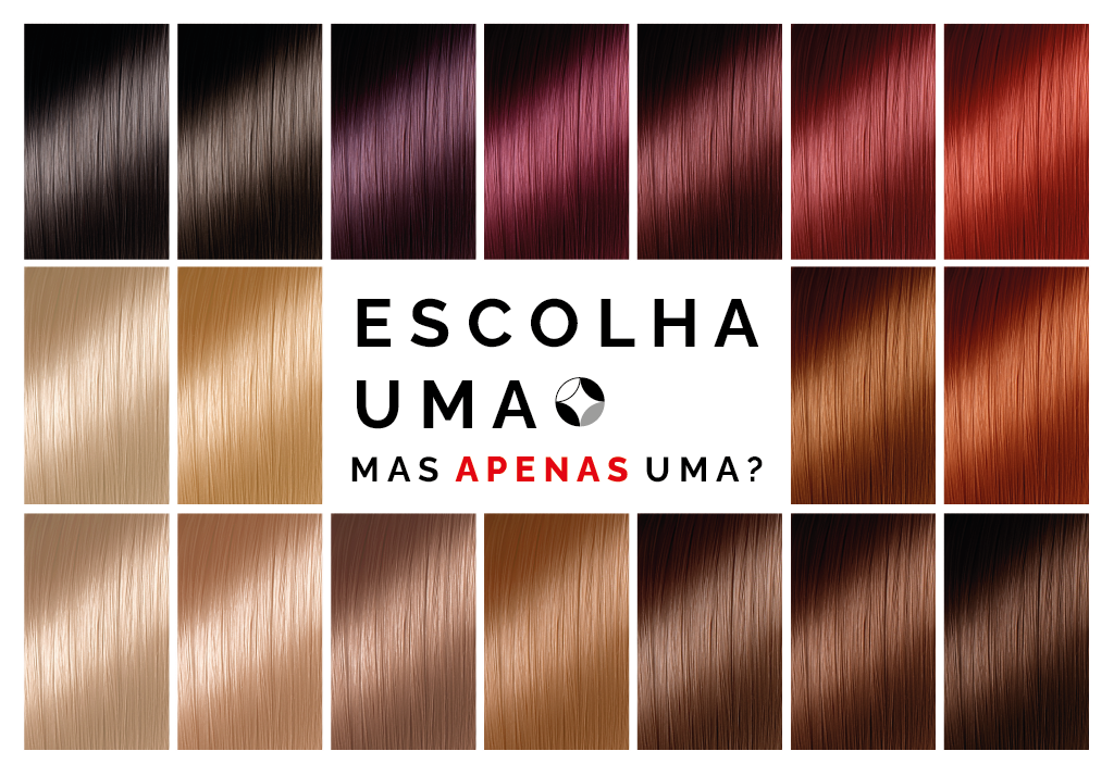 escolher a cor dos cabelos